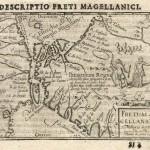 Antique Map Bertius Magellanica