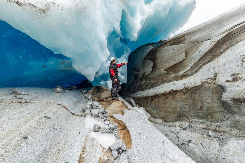 Roches rabotées par les glaciers